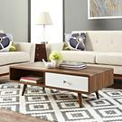 Transmit Coffee Table in Walnut White Product Image