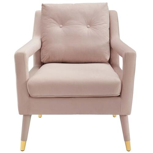 Premise Accent Lounge Performance Velvet Armchair in Pink