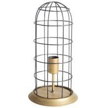"Carkner I (38""H) Gun-Metal Grey Cylindrical Metal Cage Table Lamp"
