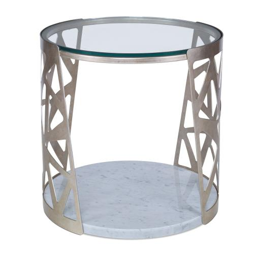 Pierced Round End Table
