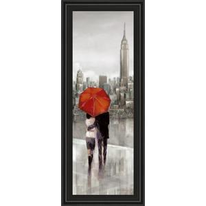 """New York Stroll"" By Ruanne Manning Framed Print Wall Art"