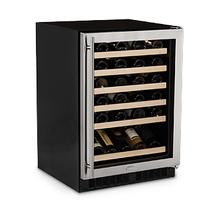 "24"" High Efficiency Single Zone Wine Cellar - Panel Overlay Frame Ready Glass Door - Integrated Left Hinge - Floor Model"