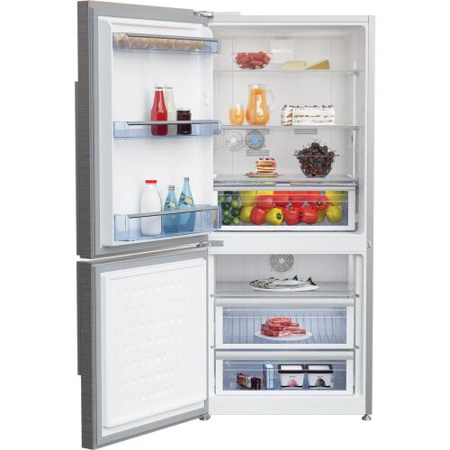 "30"" Counter Depth Bottom Freezer Refrigerator with Left Hinge"