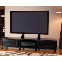 See Details - Synergy PM2 TV Mount for Triple-Width Cabinets, Black Posts