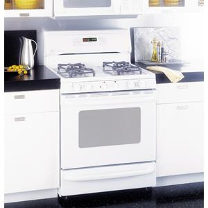 """GE Profile Performance Spectra 30"""" Free-Standing Smooth-Top Convection Gas Range"""