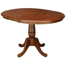 Round Extension Table in Espresso