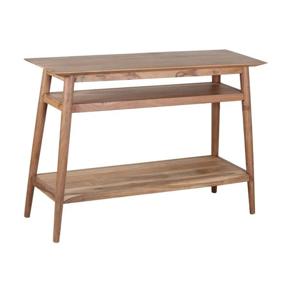 See Details - COMING SOON, PRE-ORDER NOW! Portola Natural Console Table with Shelf, 2005-002NT