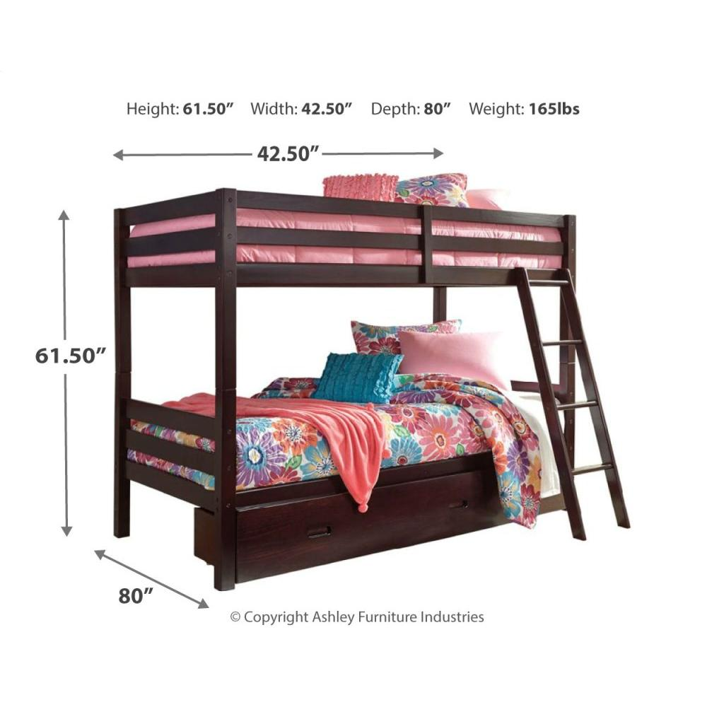 Product Image - Halanton Twin Over Twin Bunk Bed With 1 Large Storage Drawer