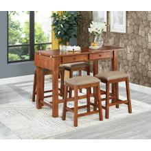 3414t/3414C  PUB TABLE AND 4 STOOLS