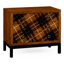 Hand Inlaid Tartan Low Chest