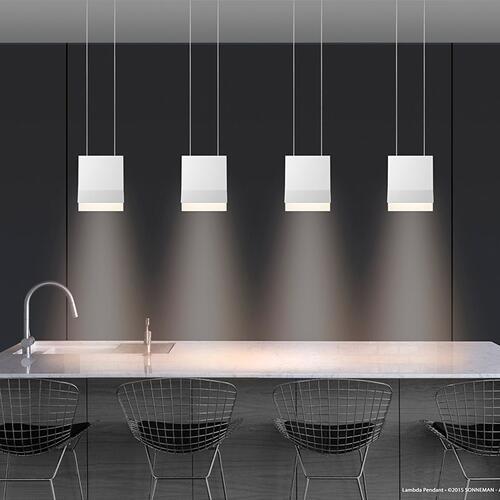 Sonneman - A Way of Light - Lambda LED Pendant [Color/Finish=Textured White]