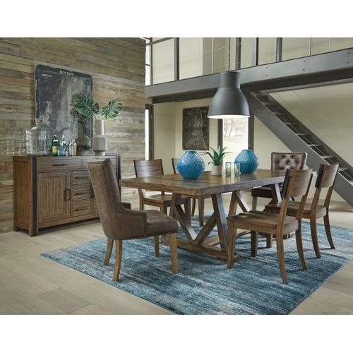Gallery - Nelson Sideboard Buffet, Rustic Pine Brown