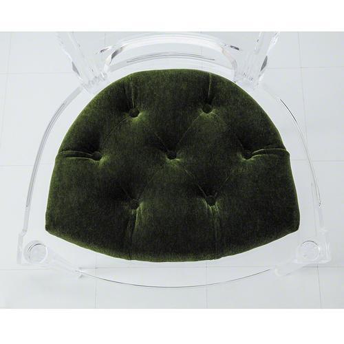 Marilyn Acrylic Side Chair-Emerald Green