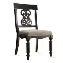 See Details - Belmeade Scroll Upholstered Side Chair Raven Black finish