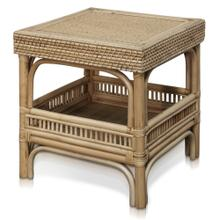 JACE SIDE TABLE  19in w. X 18in ht. X 19in d.  Natural Rattan Side Table with Lombok Binding  Mad