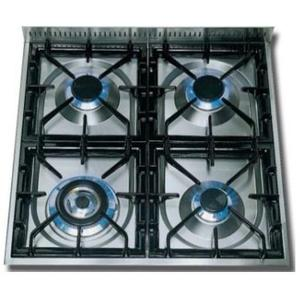Nostalgie 24 Inch Gas Natural Gas Freestanding Range in Glossy Black with Chrome Trim