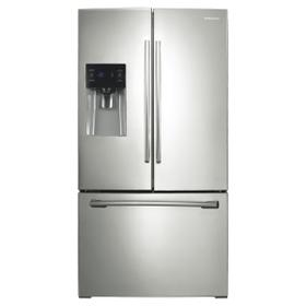 """36"""" Wide, 25 cu.ft. French Door with External Water & Ice Dispenser (Stainless Steel)"""