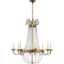 Visual Comfort CHC1408GI-SG E F Chapman Paris Flea Market 8 Light 32 inch Gilded Iron Chandelier Ceiling Light