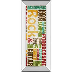 """Rock & Roll"" By Sd Graphics Studio Mirror Framed Print Wall Art"