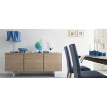 Sideboard with 3 doors and metal base