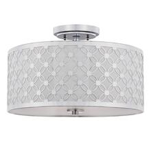Hutch 3 Light 16-inch Dia Chrome Flush Mount - Chrome