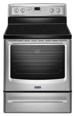 Maytag MER8800DS Electric Ranges Freestanding Smoothtop Electric Range 30-inch Wide Electric Range with Convection and Power Preheat - 6.2 cu. ft.