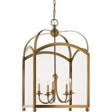 Visual Comfort CHC3425AB E. F. Chapman Arch Top 5 Light 20 inch Antique-Burnished Brass Foyer Pendant Ceiling Light