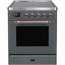 30 Inch Blue Grey Electric Freestanding Range