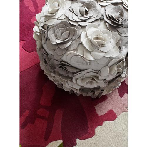 """Surya - Felted Floral POUF-28 14""""H x 18""""W x 18""""D"""