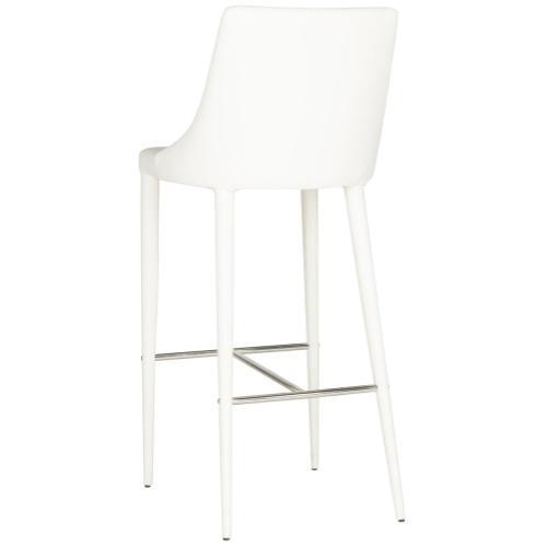 Summerset Bar Stool - White / Chrome