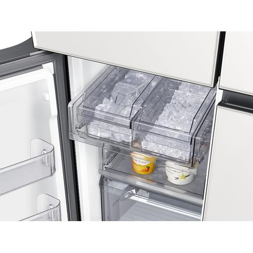 23 cu. ft. Smart Counter Depth BESPOKE 4-Door Flex™ Refrigerator with Customizable Panel Colors in White Glass
