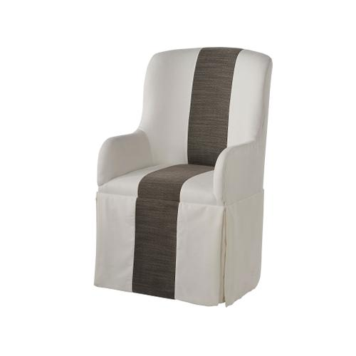 Slip Cover Caster Arm Chair