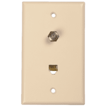 Phone/coax wall plate