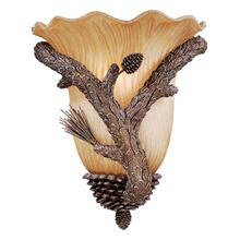 "Aspen 13"" Wall Sconce Pine Tree"