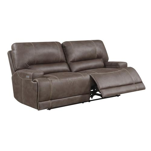 Highland Power Sofa W/ Usb Power Outlet Brown