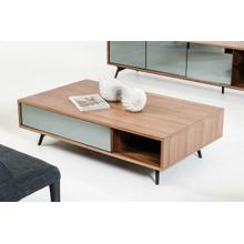 Modrest Kennedy Modern Walnut Coffee Table