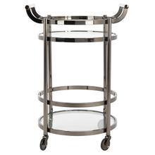 See Details - Sienna 2 Tier Round Bar Cart - Gunmetal
