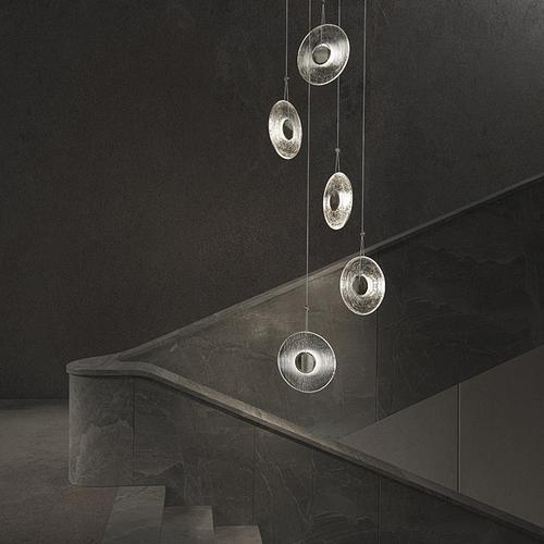 Sonneman - A Way of Light - Meclisse LED Pendant [Size=1-Light, Color/Finish=Polished Chrome w/Etched Glass]