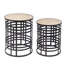 Black Woven Base Nested Table (2 pc. set)