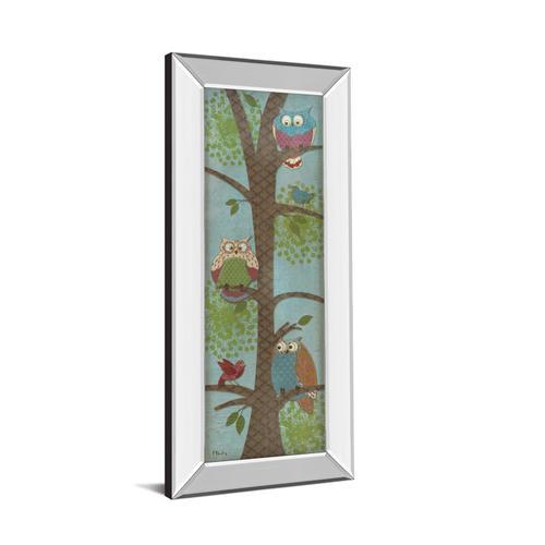 "Classy Art - ""Fantasy Owls Panel Il"" By Paul Brent Mirror Framed Print Wall Art"