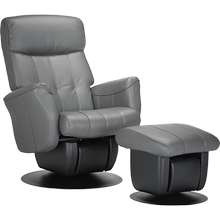 The Chicago glider is part of the AvantGlide collection and features square seatback and outward tapered armrests.