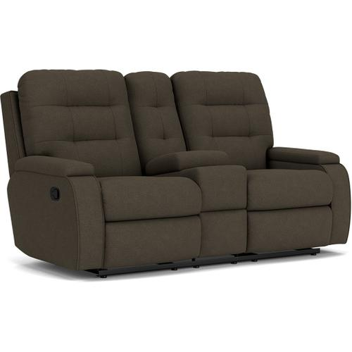 Kerrie Reclining Loveseat with Console