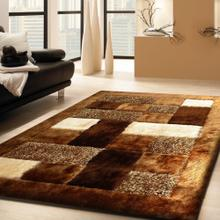 """Designer Shag S.V.D. 30 Area Rug by Rug Factory Plus - 7'6"""" x 10'3"""" / Brown"""