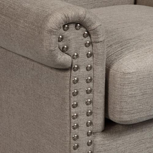 Traditional Roll Arm Accent Chair in Lunar Storm