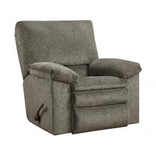 Tosh Rocker Recliner in Pewter Fabric