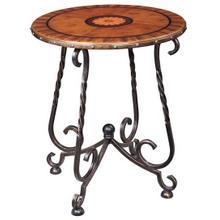 Circa Iron Base Round Lamp Table