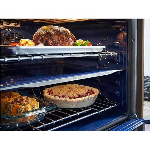"30"" Smart Microwave Combination Wall Oven with Flex Duo™ in Black Stainless Steel"
