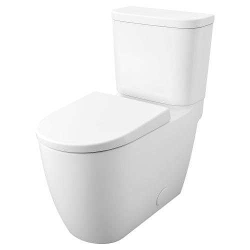 Product Image - Essence Two-piece Right Height Elongated Toilet With Seat, Left Hand Trip Lever