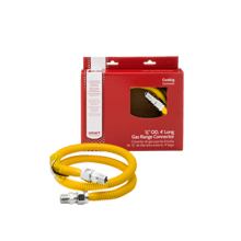 Smart Choice 4' Long 5/8'' ProCoat Range Gas Connector