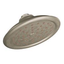 """Moen Brushed nickel one-function 7"""" diameter spray head rainshower"""
